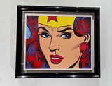 wonder woman, wonderwoman, batman superman wonderwoman, dillon boy painting, prix, cost dillon boy achat vent