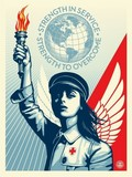 angel of hope and strenght, obey, obey giant SHEPARD FAIREY.