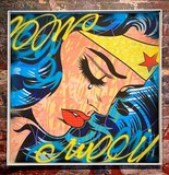 wonder woman, wonderwoman, batman superman wonderwoman, dillon boy painting, roy lichtenstein, pop art, cost dillon boy achat vent