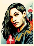 power and equality dove flower obey achat print shepard fairey
