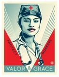 VALOR AND GRACE, obey giant,  SHEPARD FAIREY.